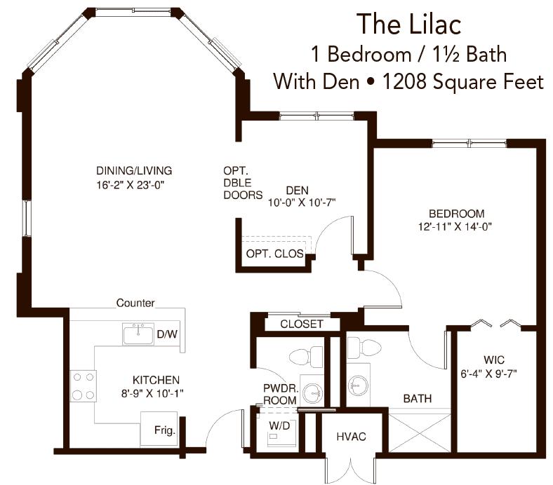 John Knox Village Lilac Residence layout