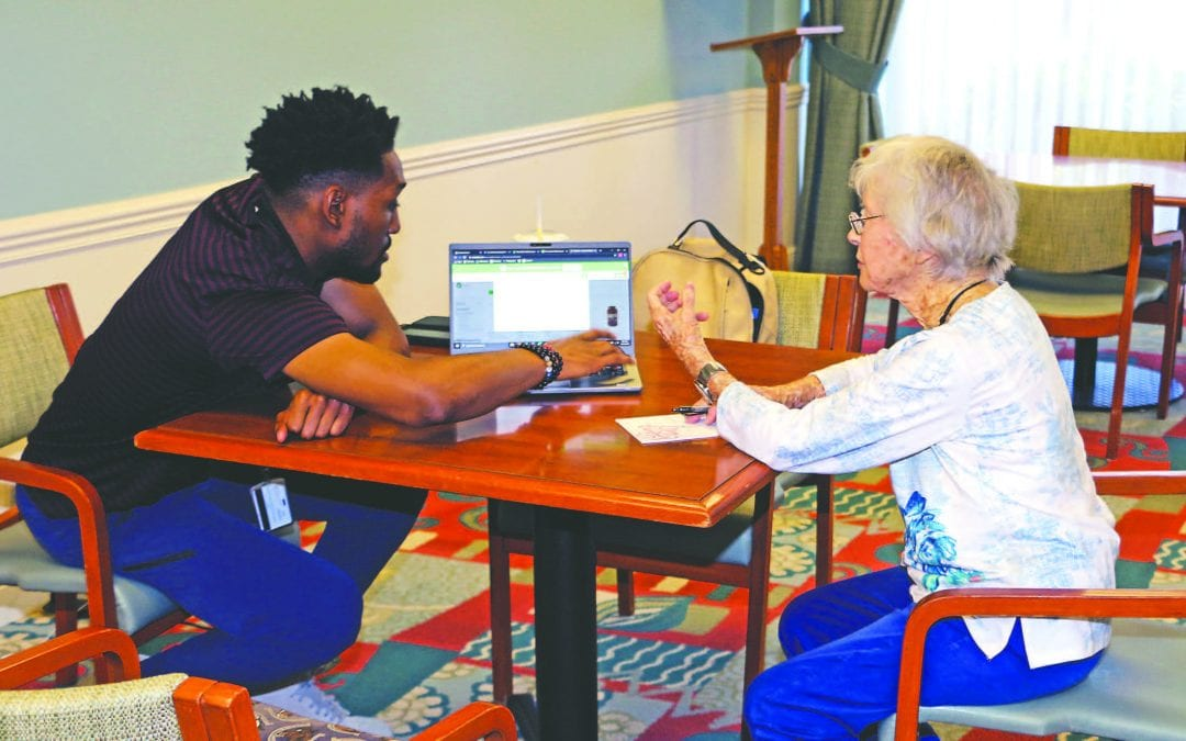 Tech Helps John Knox Village Residents Stay Apart, To Stay Together